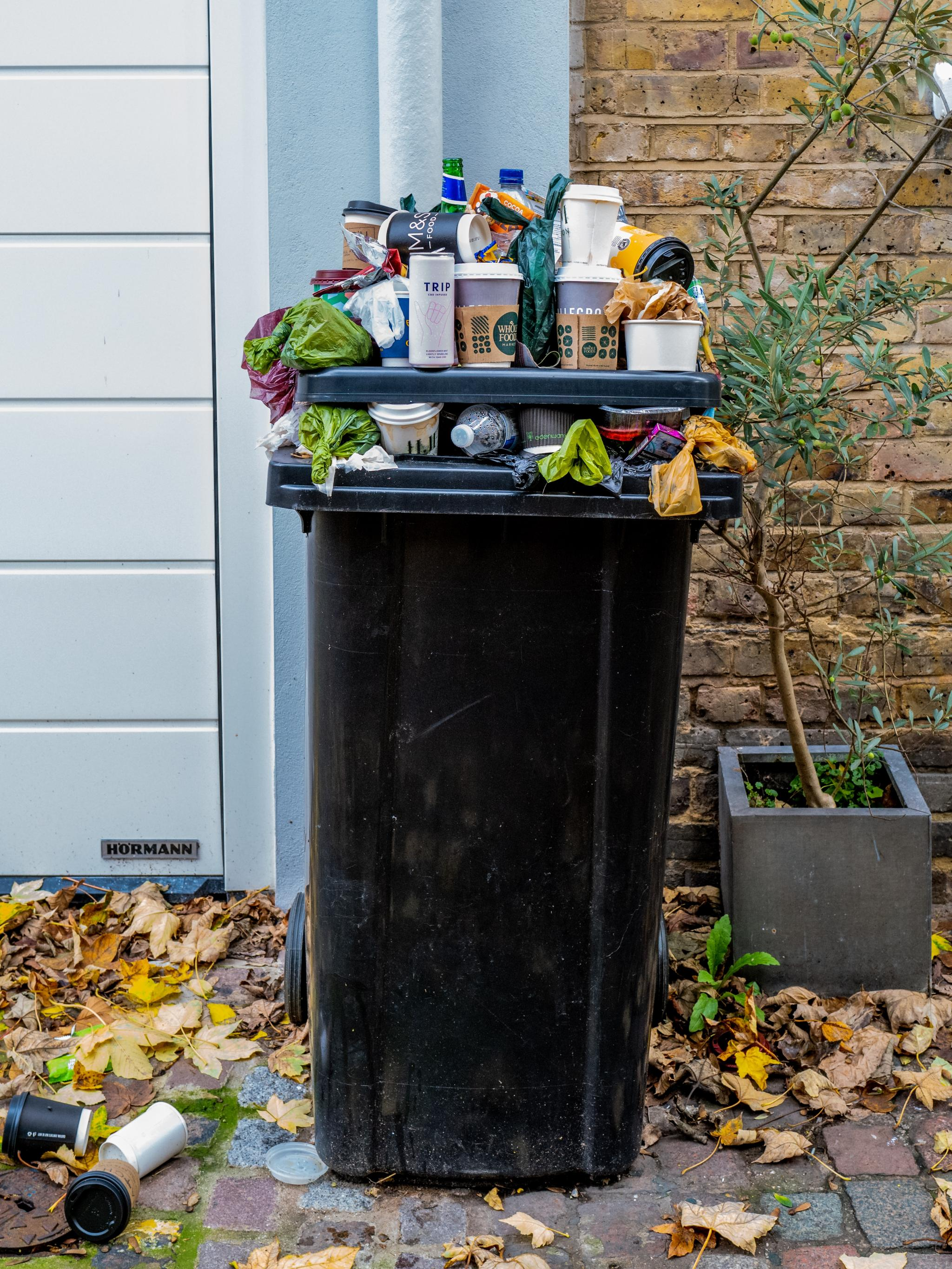 Garbage Can with Waste. Image by The Blowup. Source: Unsplash.
