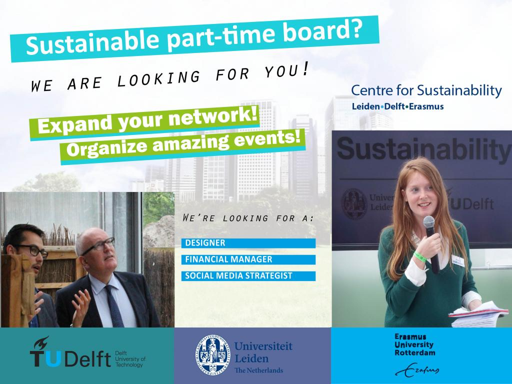 Leiden delft erasmus students become a part time board member centre for sustainability student community is recruiting spiritdancerdesigns Images